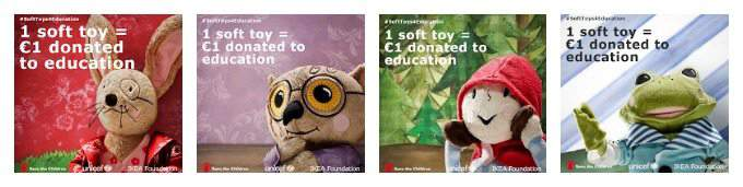 iKEA SOFT TOYS FOR EDUCATION COLLAGE
