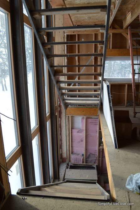 Passive House Update - stairwell - 6 months to move in