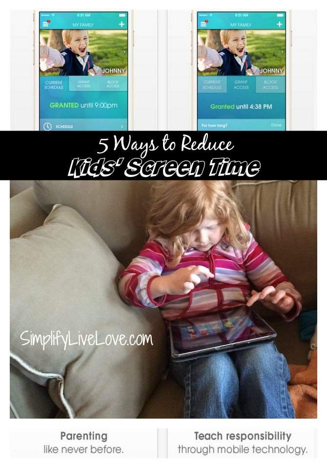 5 Ways to Reduce Kids' Screen Time - Ourpact - Parental Control App from ParentsWare