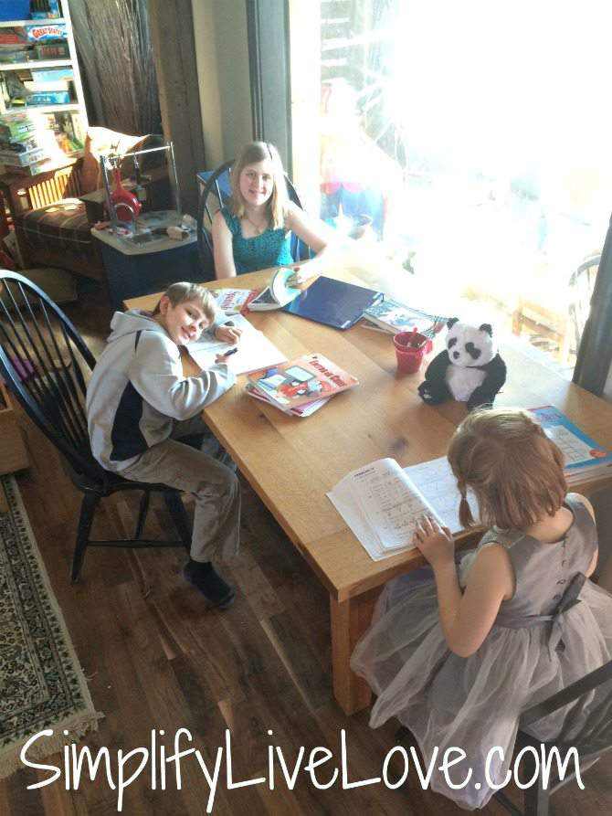 A Day in the Beautiful Mess of a Multi-Age Homeschool- school #SweepTheMess #CollectiveBias #ad