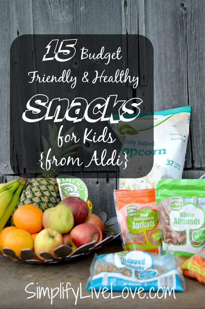 15 Budget Friendly & Healthy Snacks for Kids from Aldi