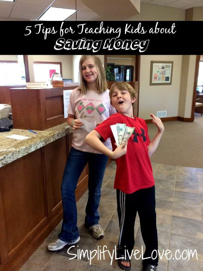 5 Tips for Teaching Kids About Saving Money - take them to the bank #iamprotective #ad #collectivebias