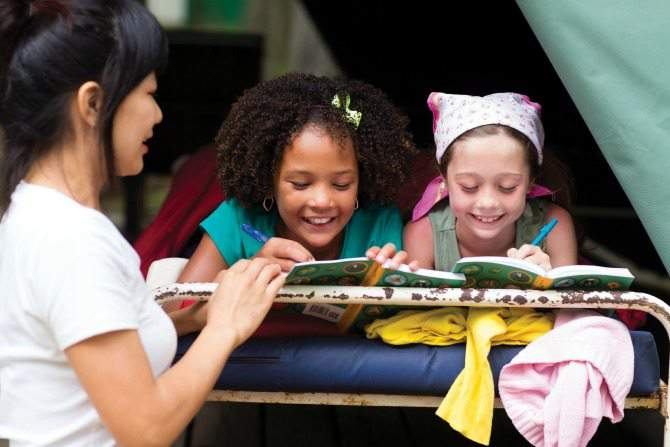 How to Encourage Healthy Habits in Girls with Girl Scouts - camping (SimplifyLiveLove)