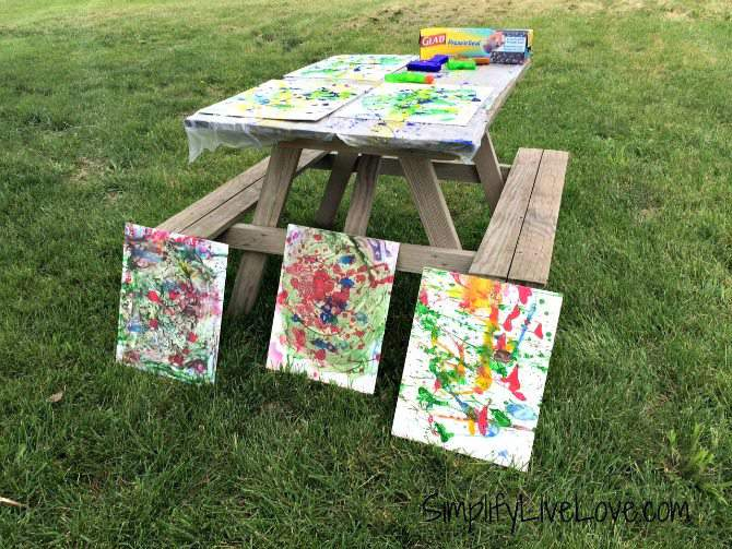 Squirt Gun Canvas Art - Fun Summer Activity for Kids #pmedia #pressnsealhacks #ad 2