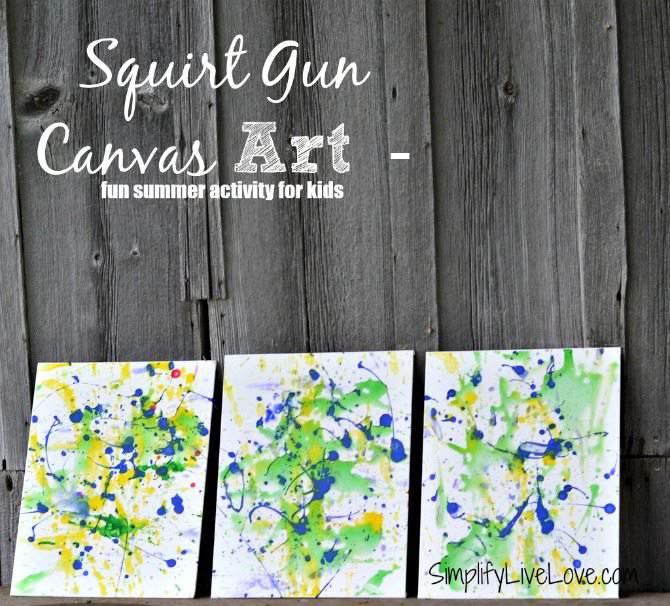 Squirt Gun Canvas Art - Fun Summer Activity for Kids #pmedia #pressnsealhacks #ad - final