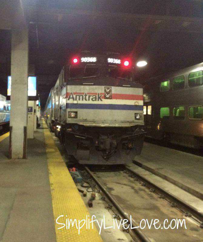 Awesome Day Trip to Chicago with Girl Scouts- headed home on Amtrak {from SimplifyLiveLove.com}