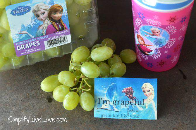Back to School Lunch Box FROZEN Printables & Grapes love notes from SimplifyLiveLove.com