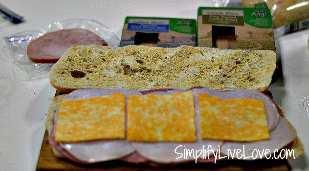 Easy Oven Sandwich Recipe - Perfect for Freezer Cooking - make the sandwich from SimplifyLiveLove.com