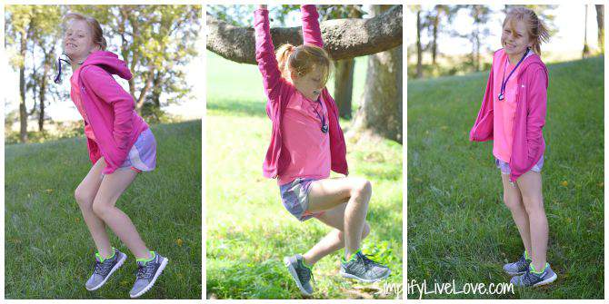 Even Homeschooled Kids Get New B2S Twistform Shoes collage from SimplifyLiveLove.com #Twistform at Finish Line #IC #ad