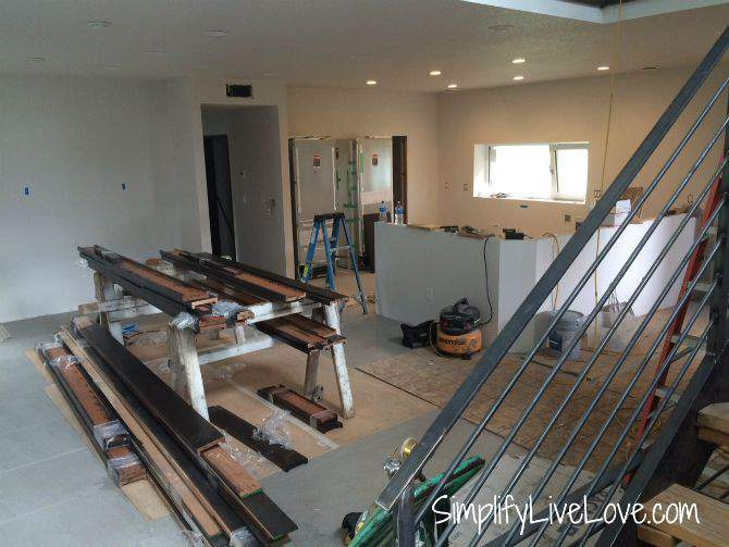 Passive House Update - Railings, Garage Steel, & Trim - door trim from SimplifyLiveLove.com