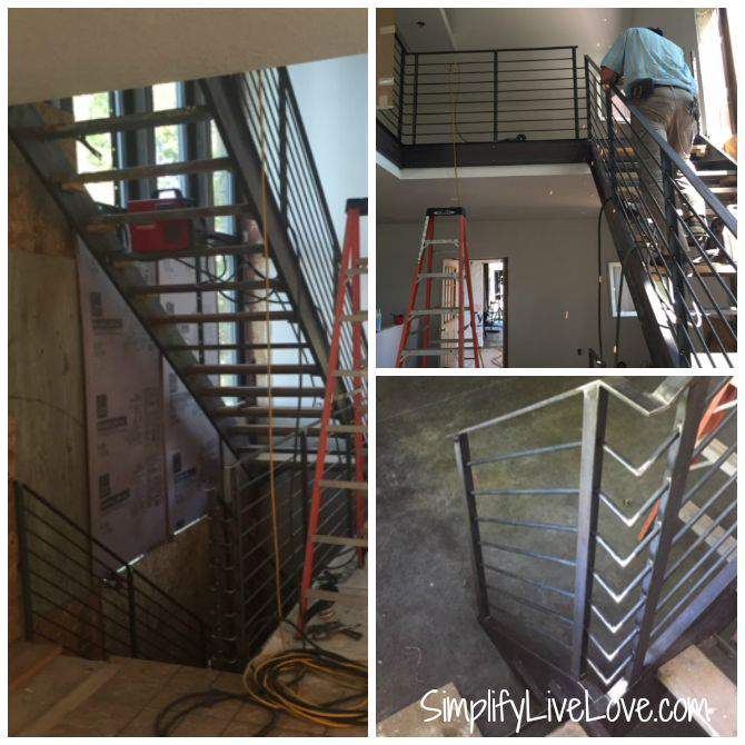 Passive House Update - Railings, Garage Steel, & Trim -- railings collage from SimplifyLiveLove.com