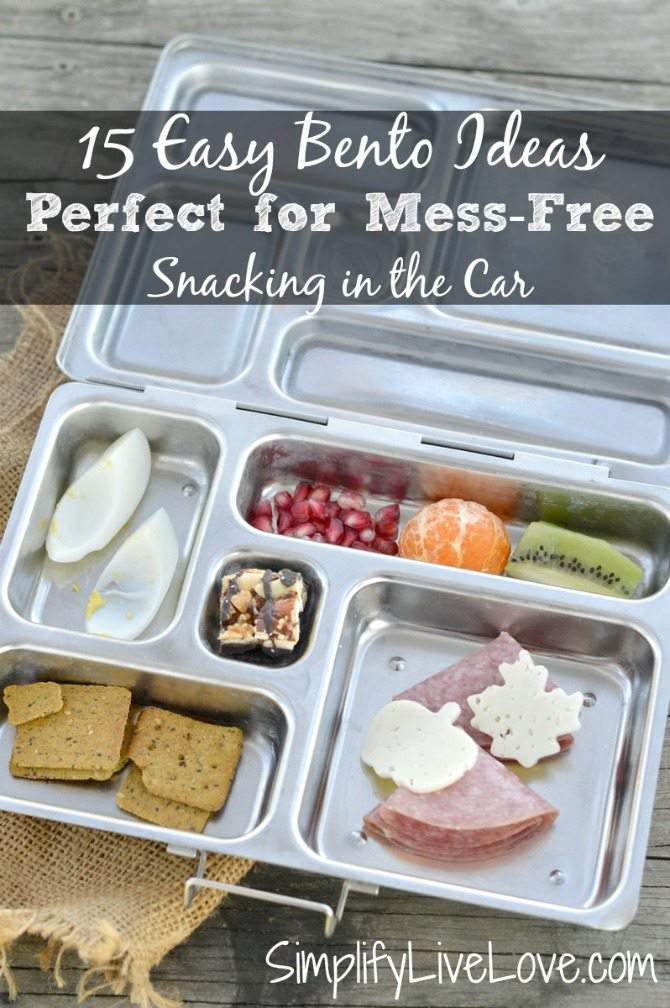 15 Easy Bento Ideas - Perfect for Mess-Free Snacking in the Car #Arla101 #sp