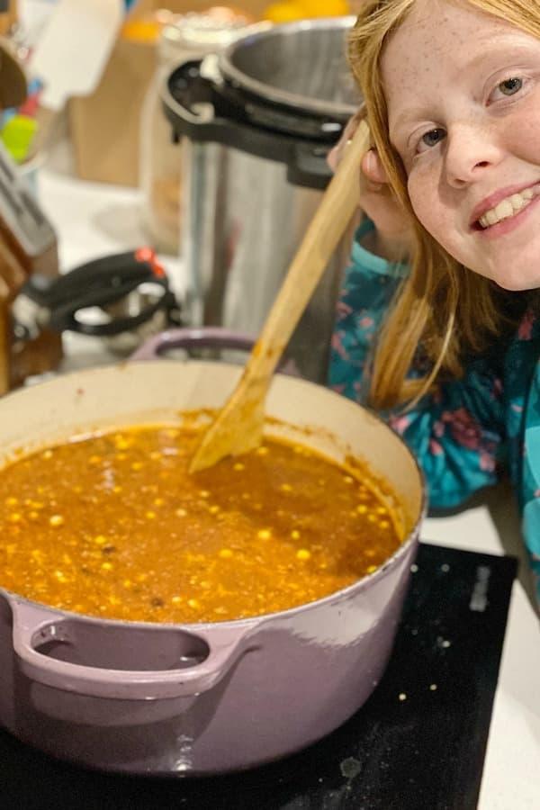 sara making taco soup (1)