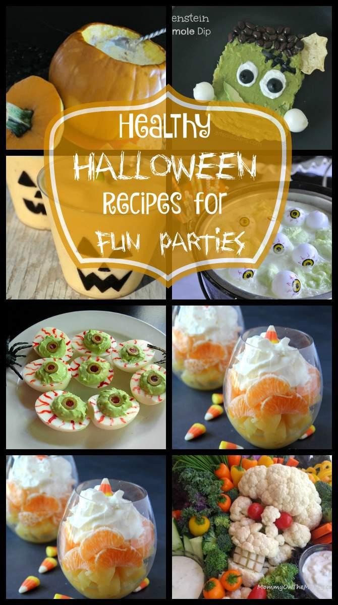 15 Healthy Recipe Ideas for Fun Halloween Parties from SimplifyLiveLove.com - Easy to make and healthy Halloween Party ideas