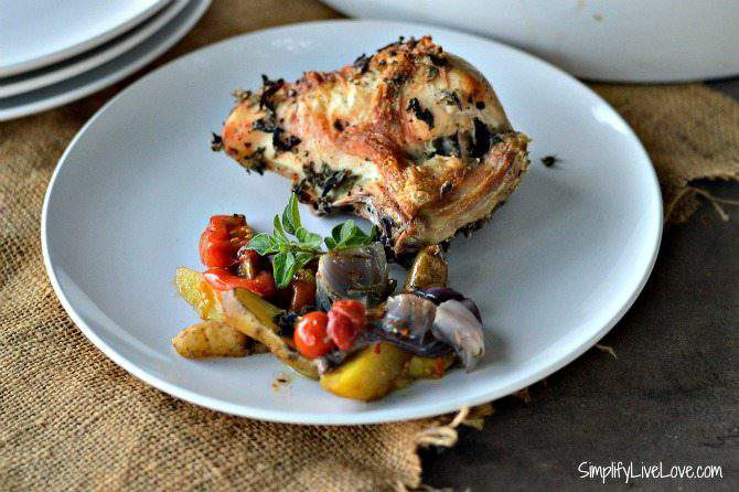 Chicken Oreganato: a Farm-to-Table, Freezer Friendly Recipe