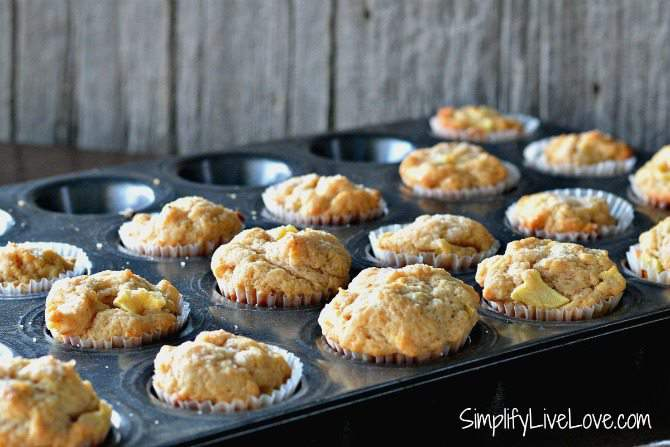 Cooking with Kids - Mini Applesauce Muffin Recipe - cool completely and then devour!