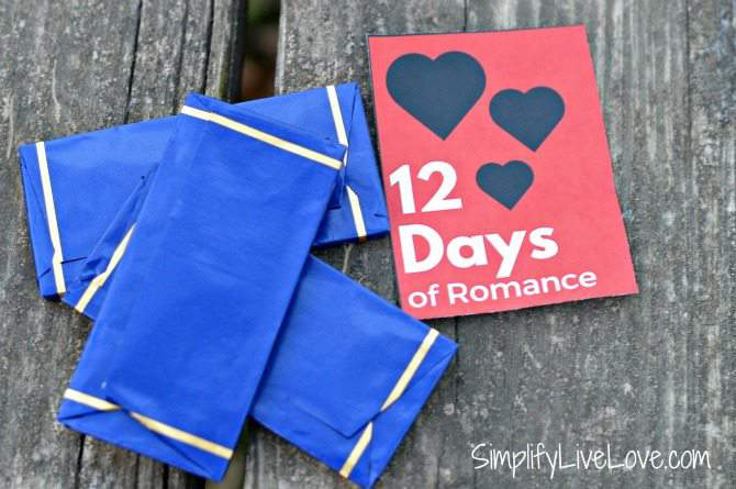 12 Days of Romance Gift Idea & Free Printable - leave a piece of chocolate on his pillow from SimplifyLiveLove.com #ad #KYTrySomethingNew