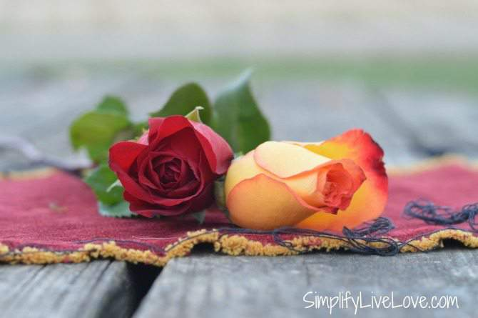 12 Days of Romance Gift Idea & Free Printable - leave a rose on his pillow.