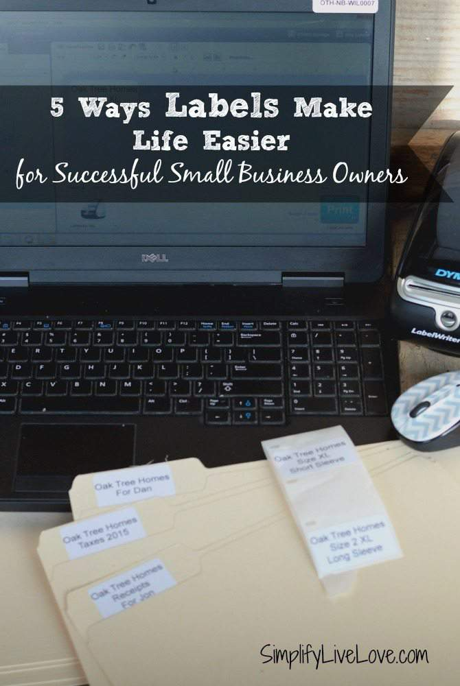 5 Ways Labels Make Life Easier for Successful Small Business Owners #PutALabelOnIt DYMO LabelWriter 450 SimplifyLiveLove.com #ad