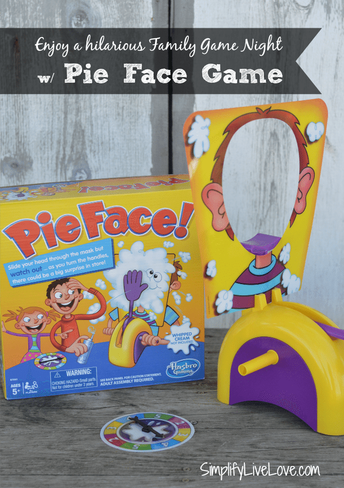 Have a Hilarious Game Night with the Pie Face Game by Hasbro from SimplifyLiveLove.com #PieFace #IC #ad