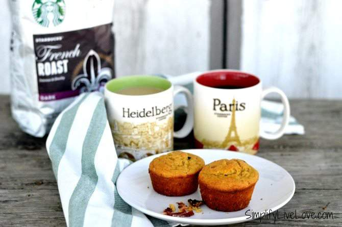 Maple Bacon Muffin Recipe & The Consumable Christmas from SimplifyLiveLove.com