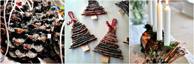 Homemade Christmas Decorations Made with Natural Items