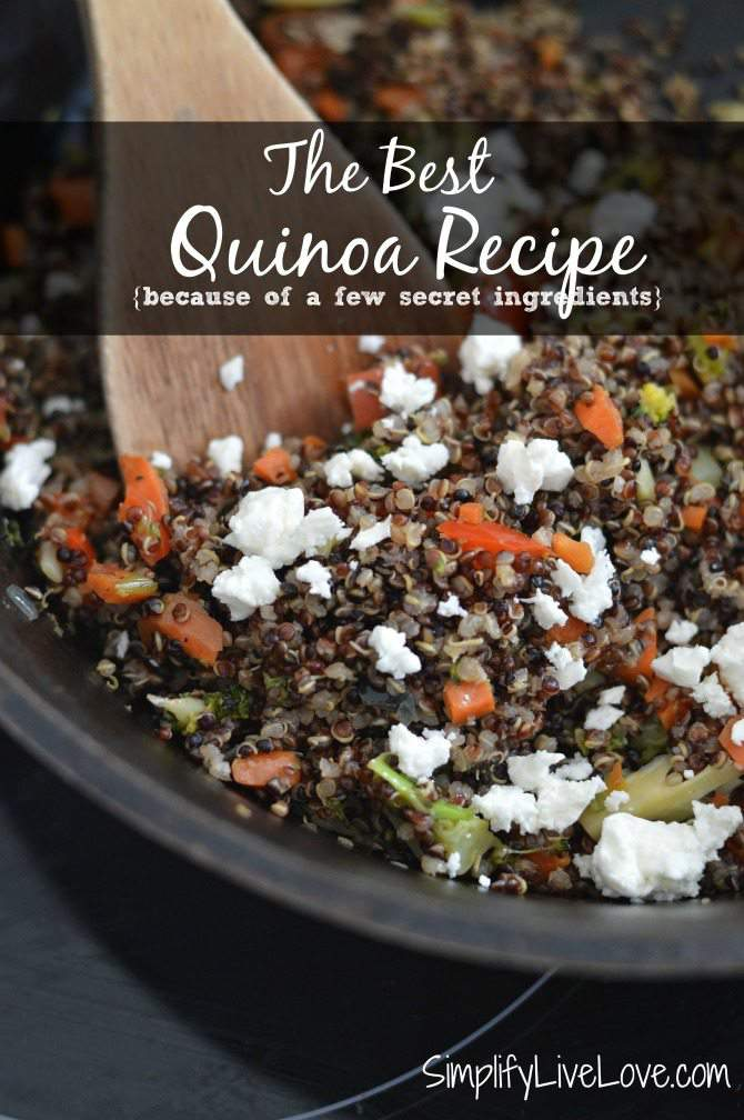 The Best Quinoa Recipe {because of a few secret ingredients} from SimplifyLiveLove.com