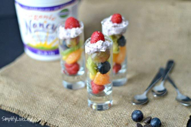 Fresh Fruit Cups and homemade healthy fresh fruit dip from SimplifyLiveLove.com