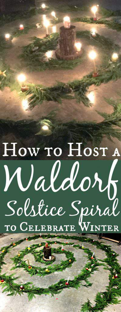 How to host a Waldorf Solstice Spiral to Celebrate the Winter Solstice