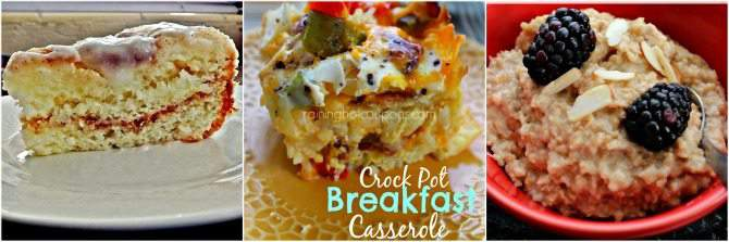 Slow Cooker Breakfast Ideas {To Simplify Busy Mornings} from SimplifyLiveLove.com