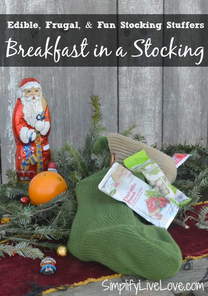 The Best Stocking Stuffers are Frugal, Fun, and Edible - Breakfast in a Stocking from SimplifyLiveLove.com