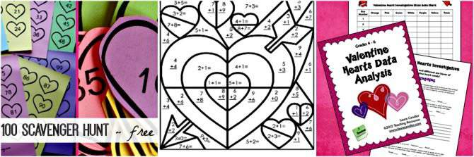 Homeschool Valentine's Day Activities - Math Activities