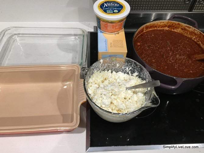 Make Ahead Lasagna Recipe with Cottage Cheese & Secret Veggies