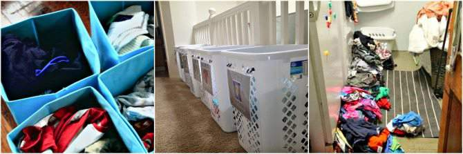 Laundry Organization for large families