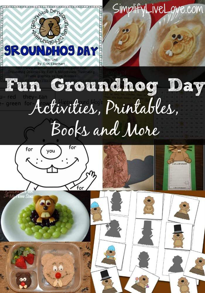 Fun Free Homeschooling Groundhog Day Activities, Printables, Books and More