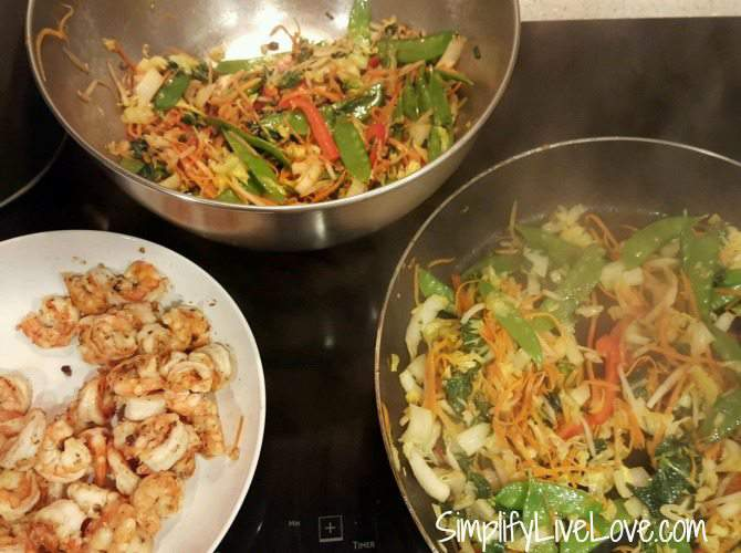 stir fry veggies for shrimp lo mein