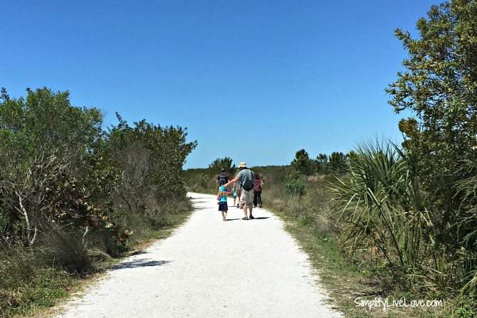 Hiking at Robinson Preserve in Bradenton, Florida