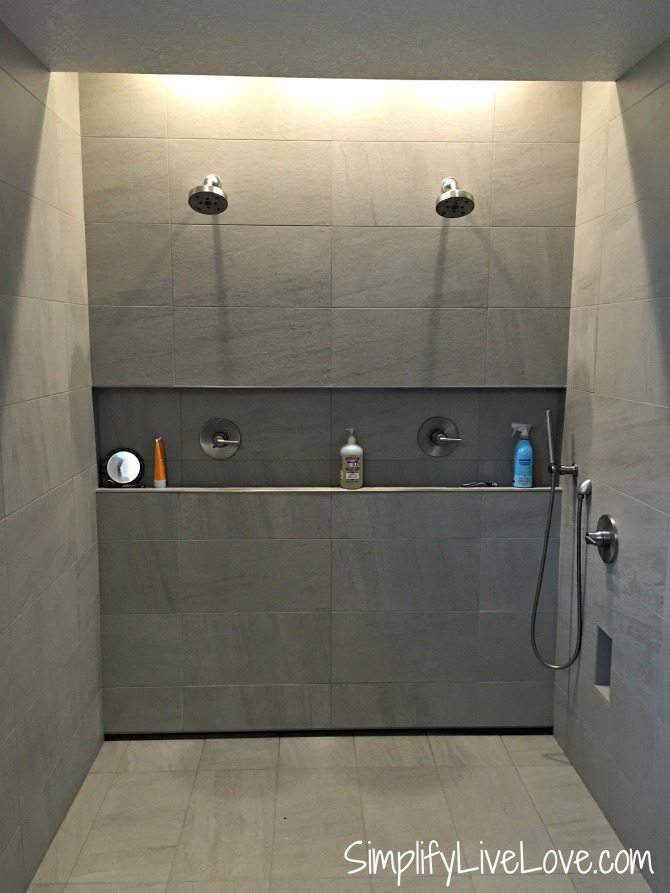 Master shower in the Passive-Aggressive House