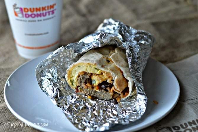 Sausage GranDDe Burrito at Dunkin' Donuts