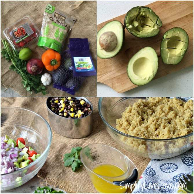 Steps to preparing the Texas Caviar Quinoa Salad