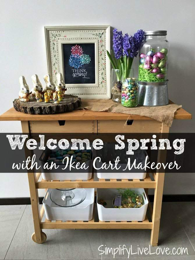 Welcome spring with a delicious spring centerpiece using chocolates, printables, and flowers.