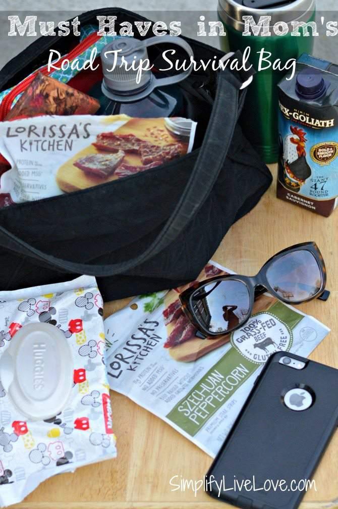 Must haves in mom's road trip survival bag