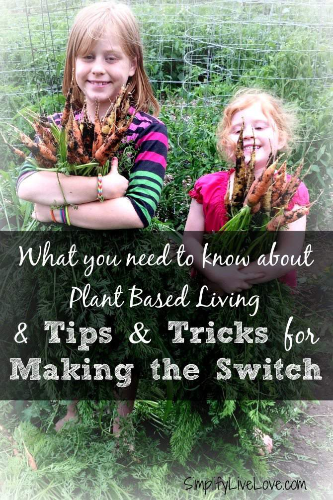 What you need to know about plant based living and tips and tricks for making the switch work in your family