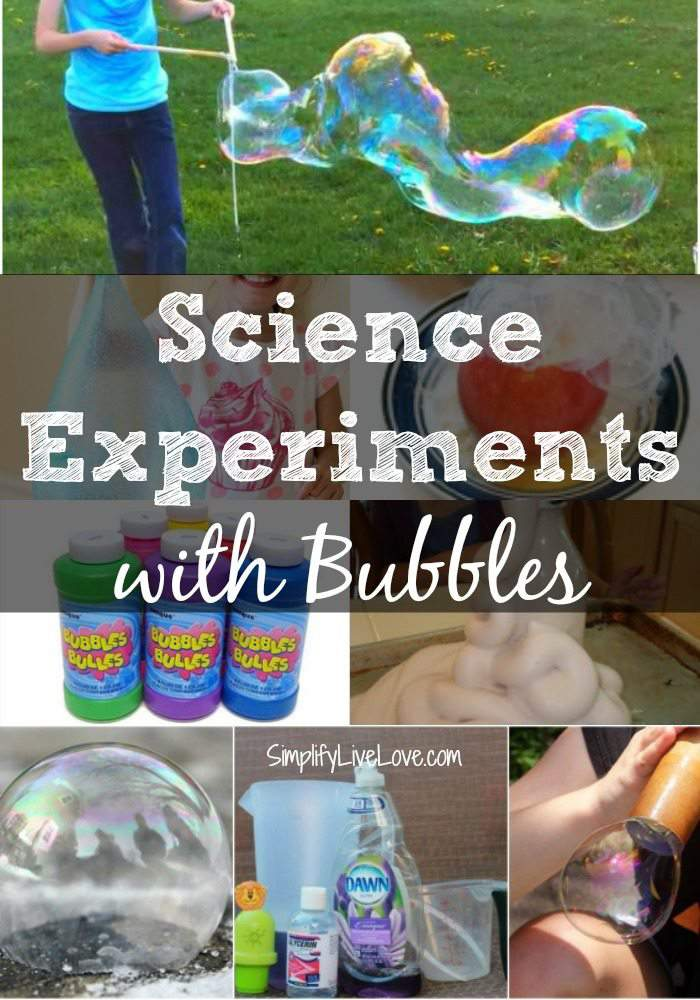 Science Experiments with Bubbles