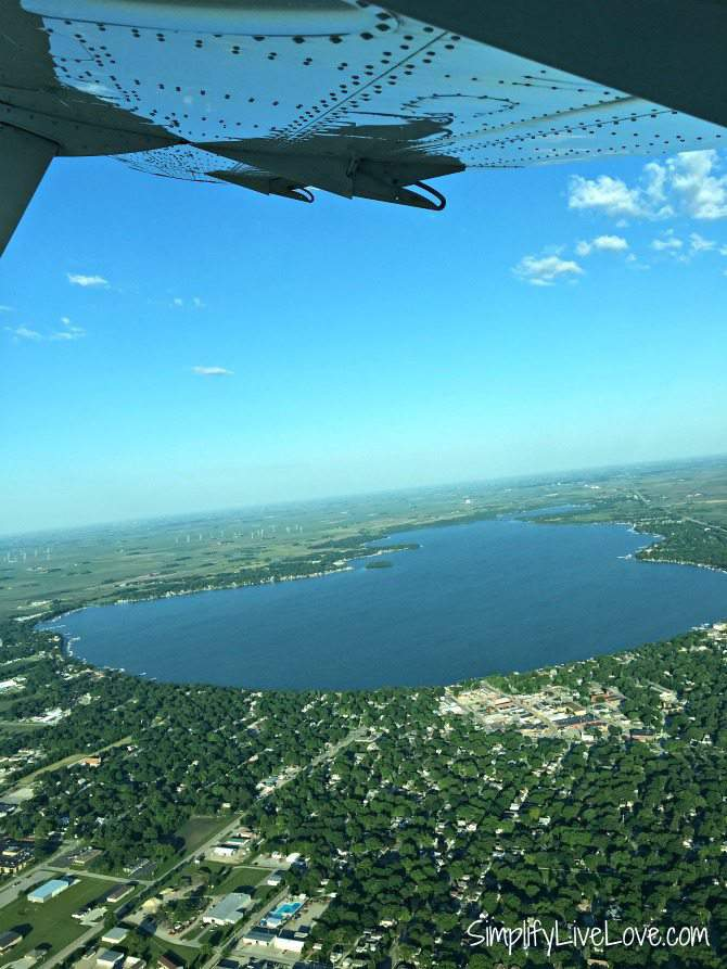 Clear Lake Iowa from the air
