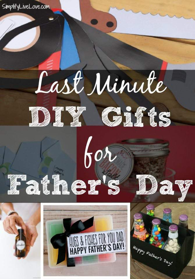 Last Minute DIY Father's Day Gifts