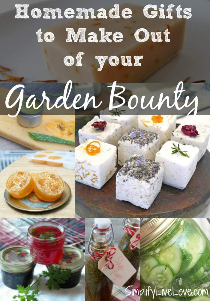 Homemade Gifts to Make Out of your Garden Bounty