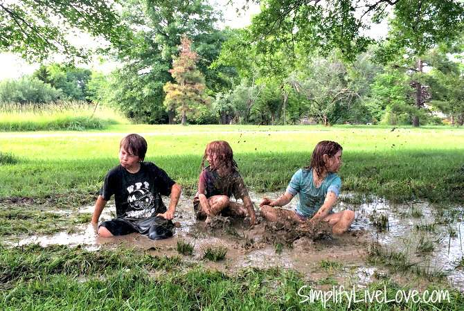 play in the mud boredom busters for kids