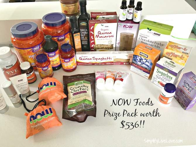 NOW Foods prize pack worth $536