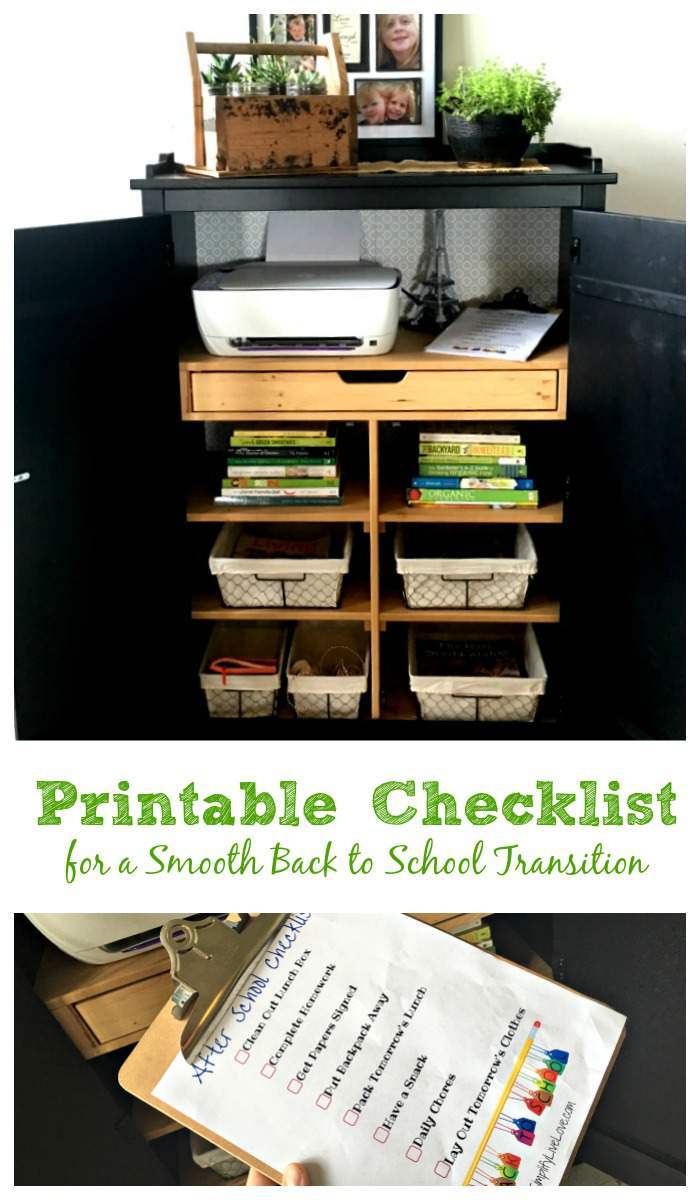 Printable Checklist for a Smooth Back to School Transition